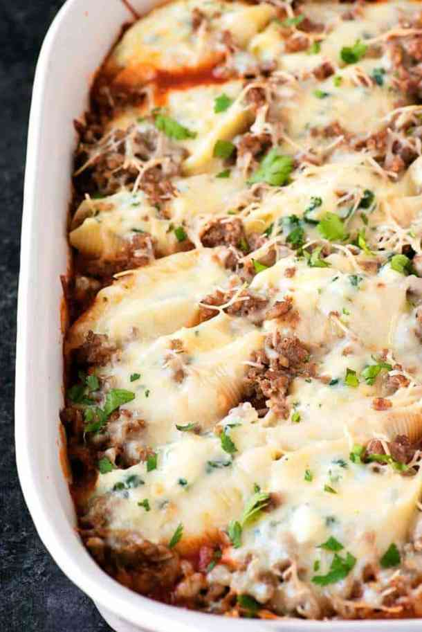 Sausage Spinach Stuffed Shells