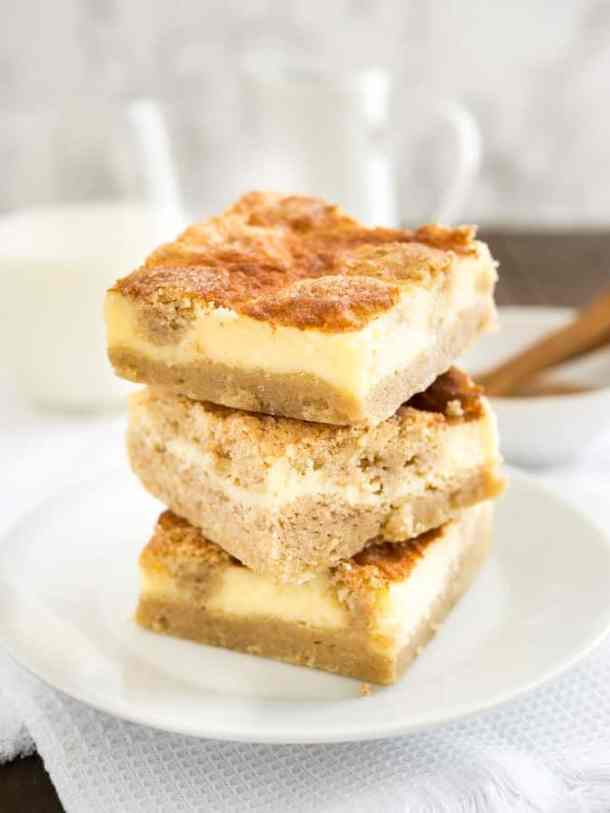 Snickerdoodle Cheesecake Bars--Part of The Best Dessert Bars