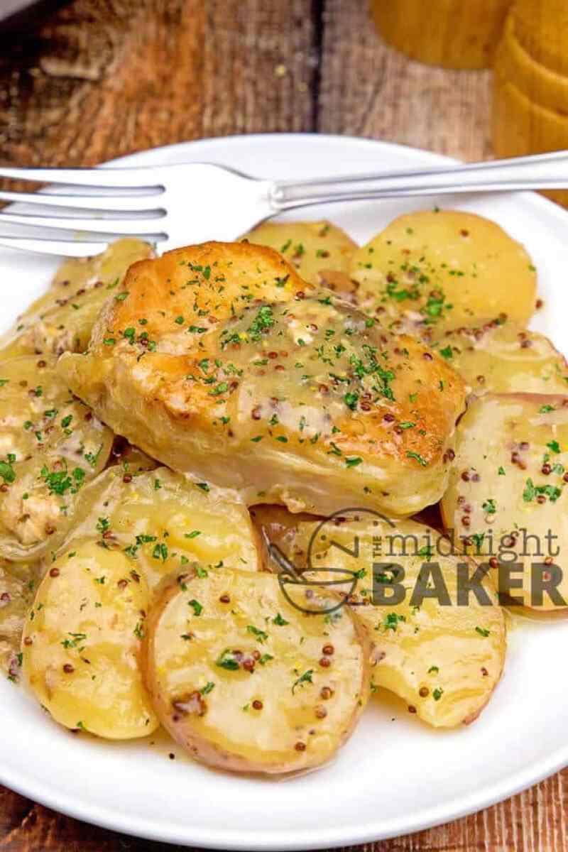 slow cooker dijon pork chops potatoes recipe