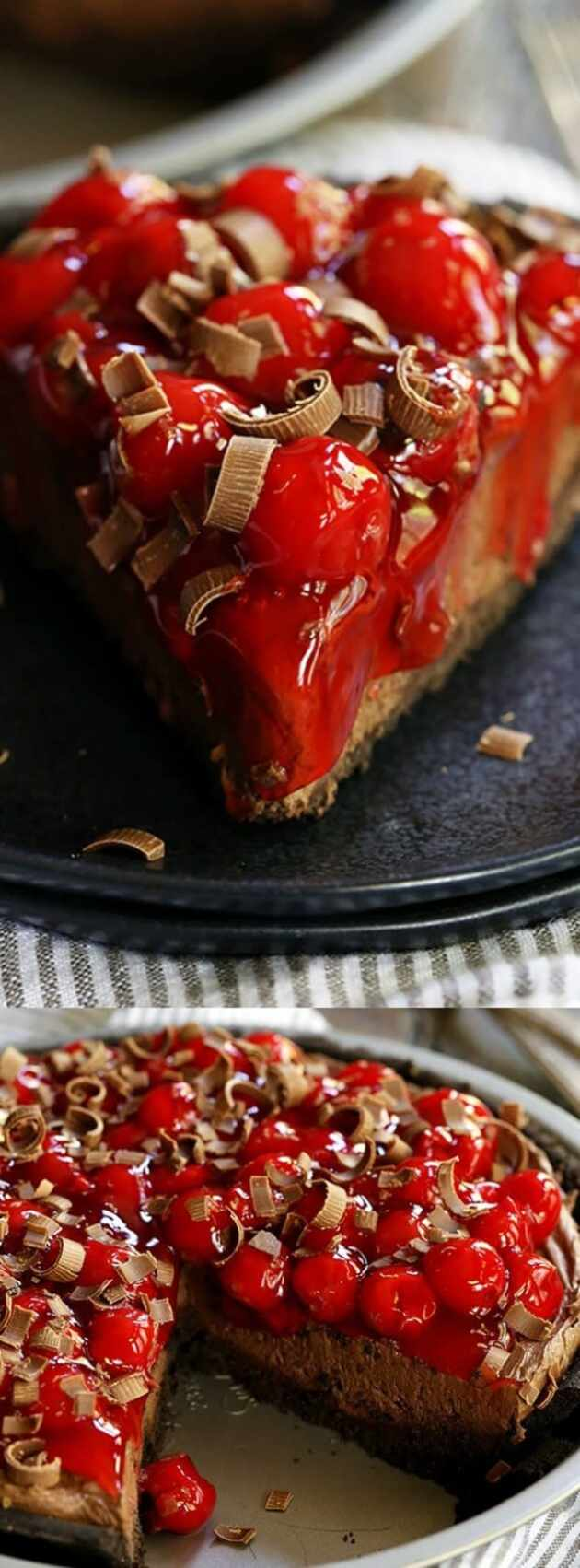 Black Forest No-Bake Cheesecake