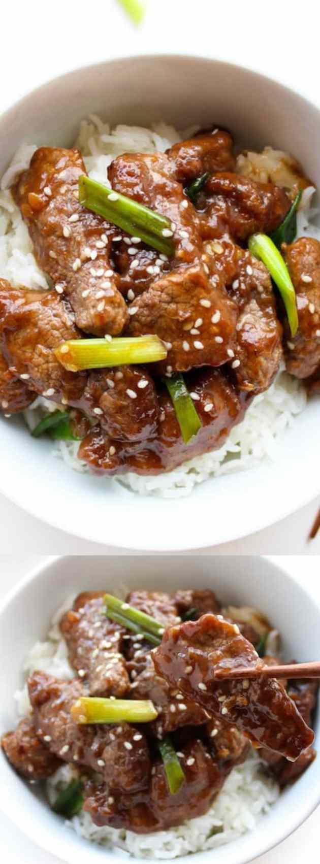 Pale Mongolian Beef Longpin
