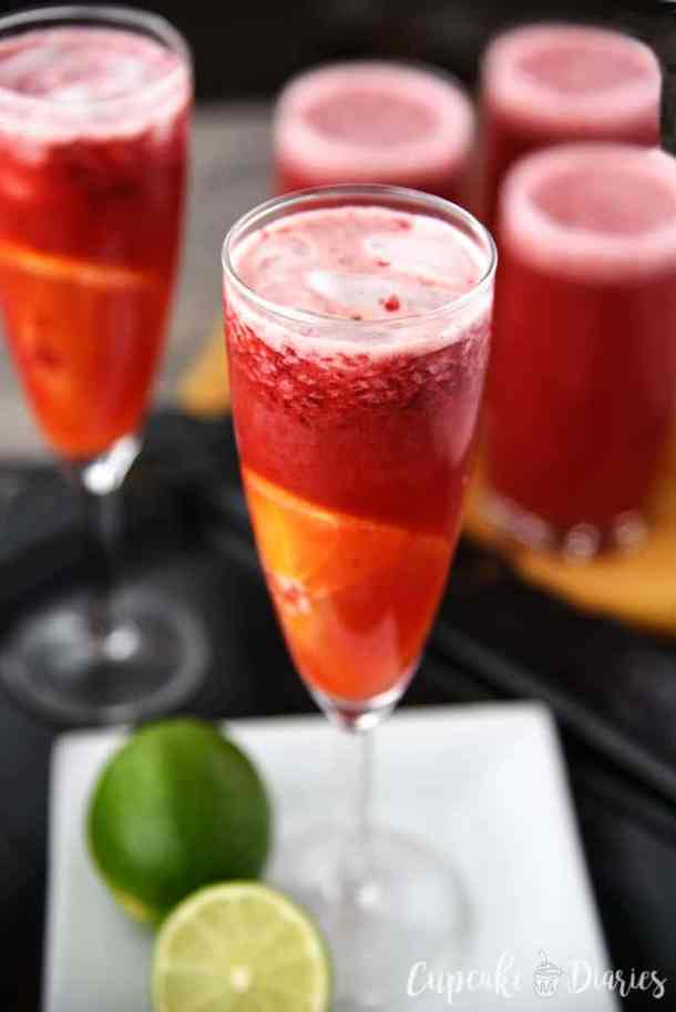 Raspberry Orange Sparkling Punch