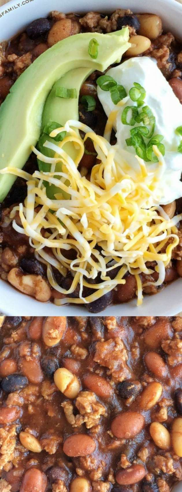 Slow Cooker 3 Bean Turkey Chili longpin