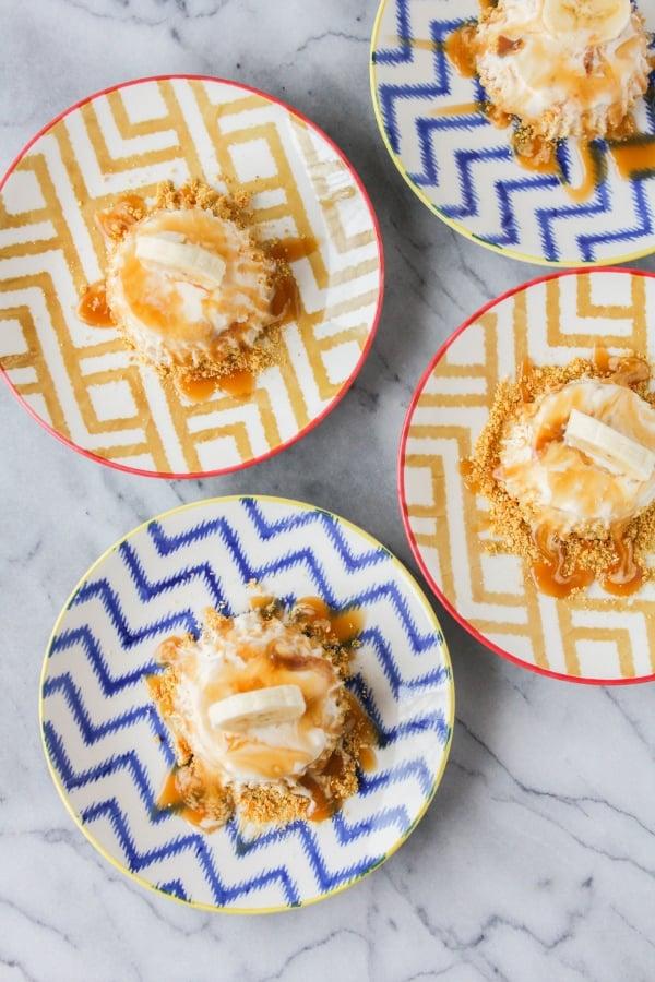 Bananas Foster Ice Cream Tartlets Recipe