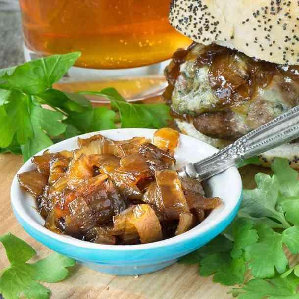 Beer Burgers with Beer Onion Jam Recipe