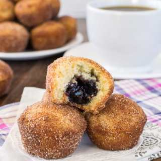 Blueberry Jelly Donut Holes