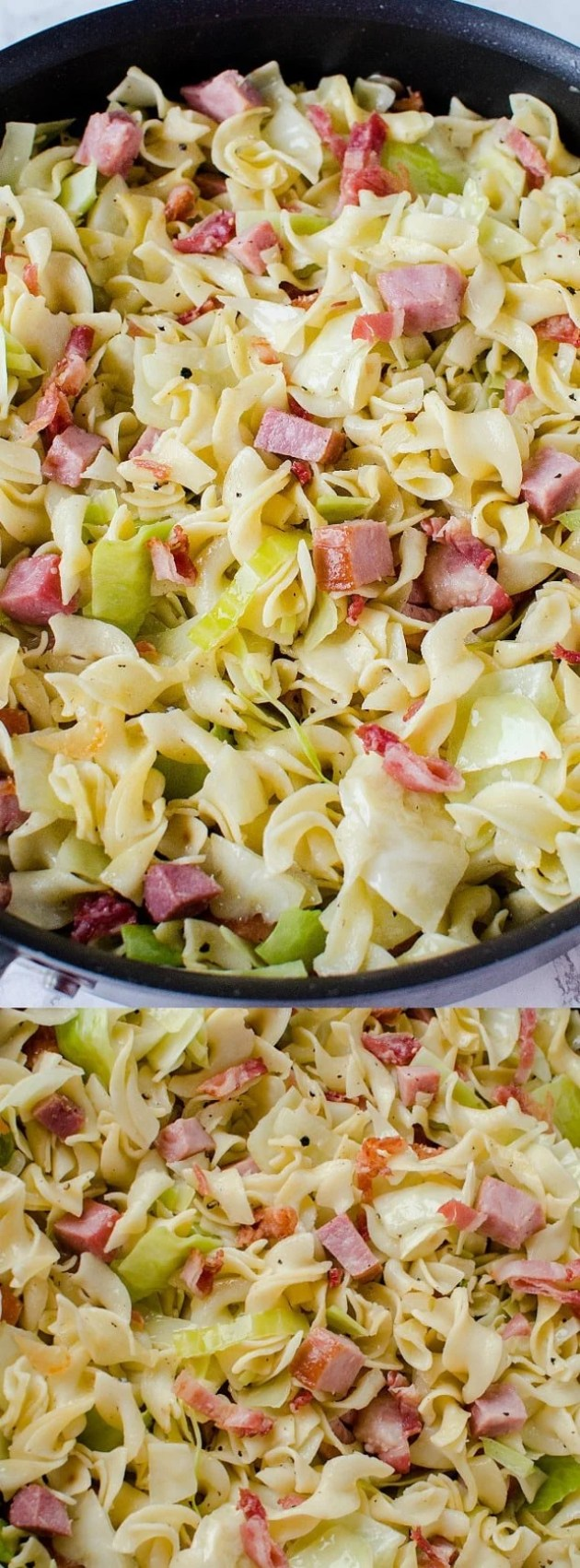 Cabbage and Noodles with Ham Longpin