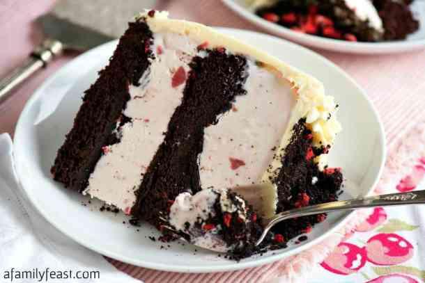 Chocolate Crunch Strawberry Ice Cream Cake recipe