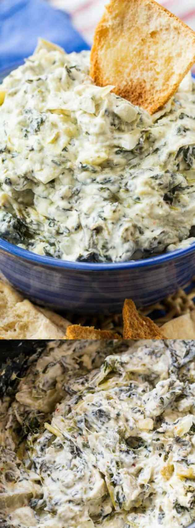 Crock Pot Spinach Artichoke Dip Longpin