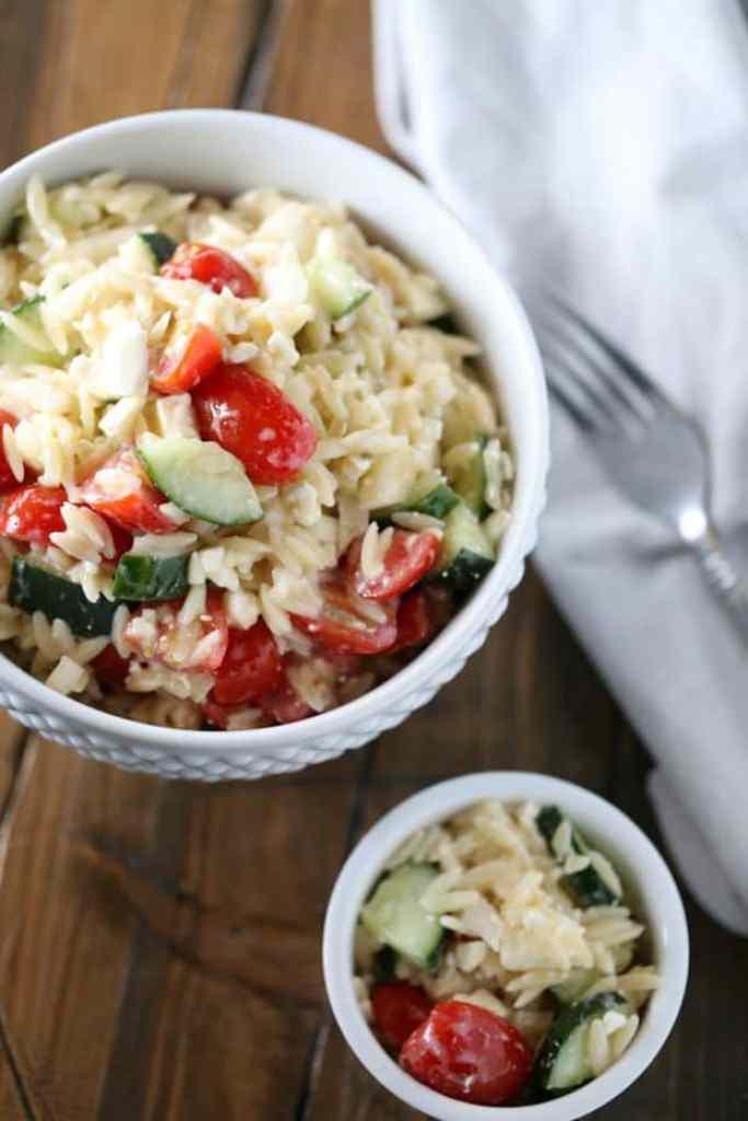 Italian Orzo Pasta Salad Recipe