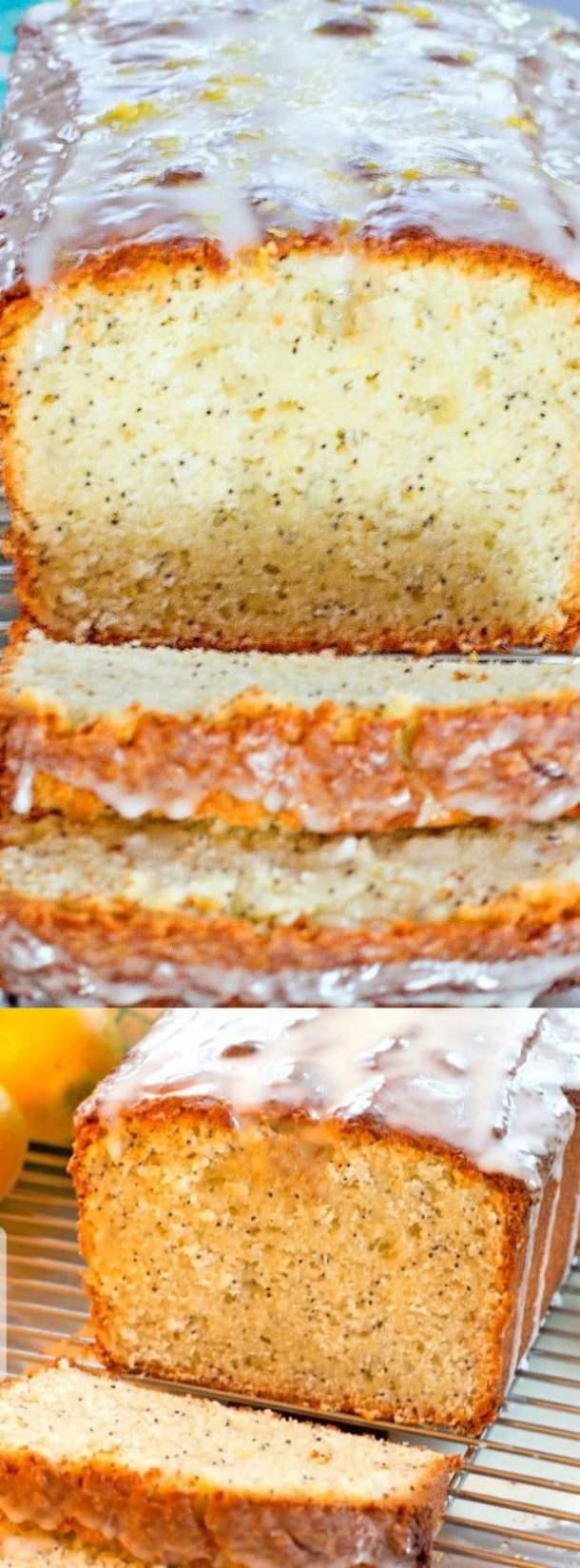 Meyer Lemon Poppy Seed Yogurt Bread