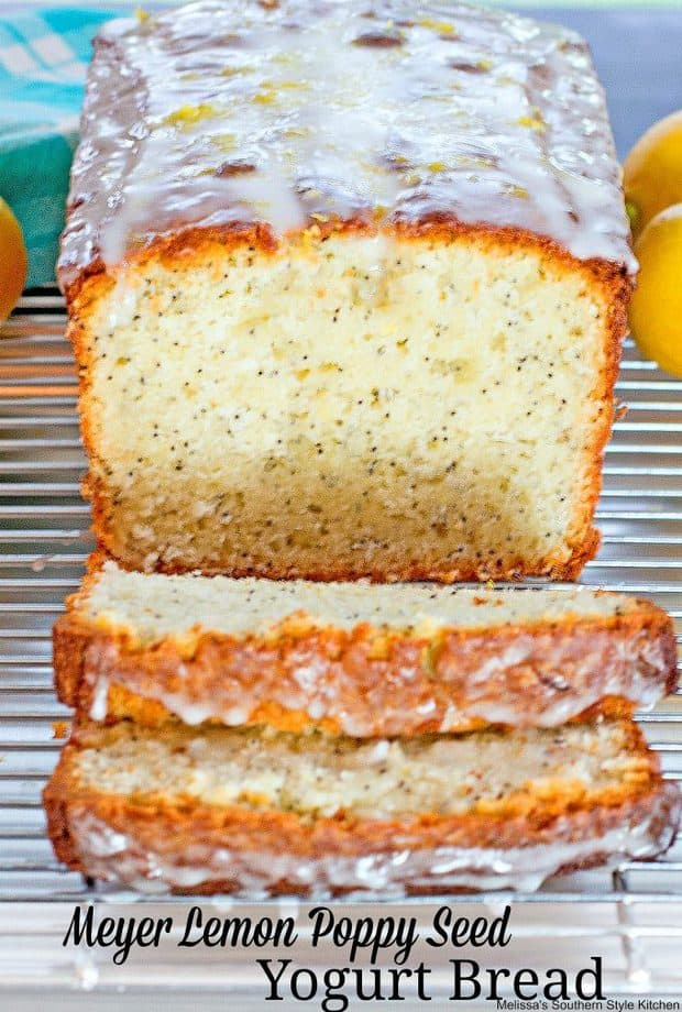 In late winter and early spring when Meyer lemons start hitting the produce shelves it's the perfect time to start dreaming of warmer weather and citrus lacedMeyer Lemon Poppy Seed Yogurt Bread.