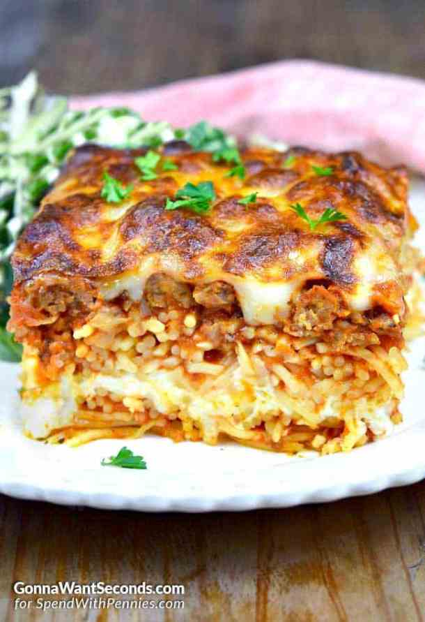Million Dollar Spaghetti Casserole -- Delicious ways to CHANGE up your Spaghetti Dinner Routine