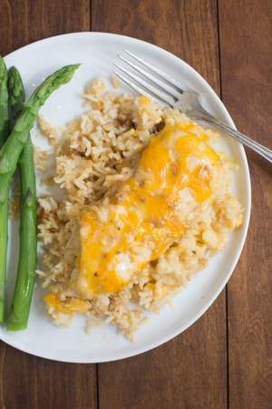 One Pan Cheesy Chicken Rice
