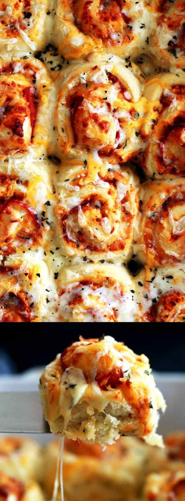 Pepperoni Pizza rolls longpin