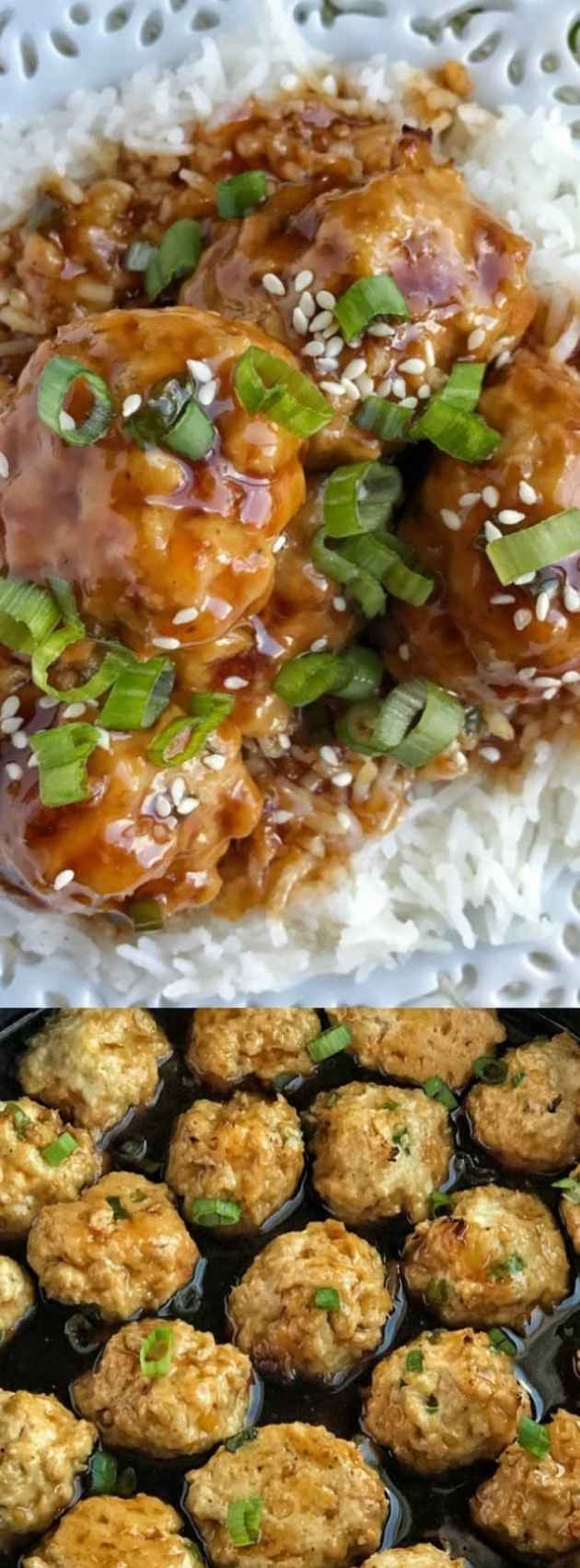 Pineapple Teriyaki Chicken Meatballs Longpin