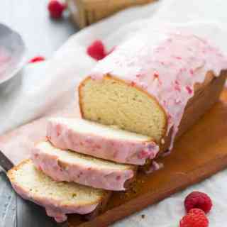 Raspberry Glazed Key Lime Cake