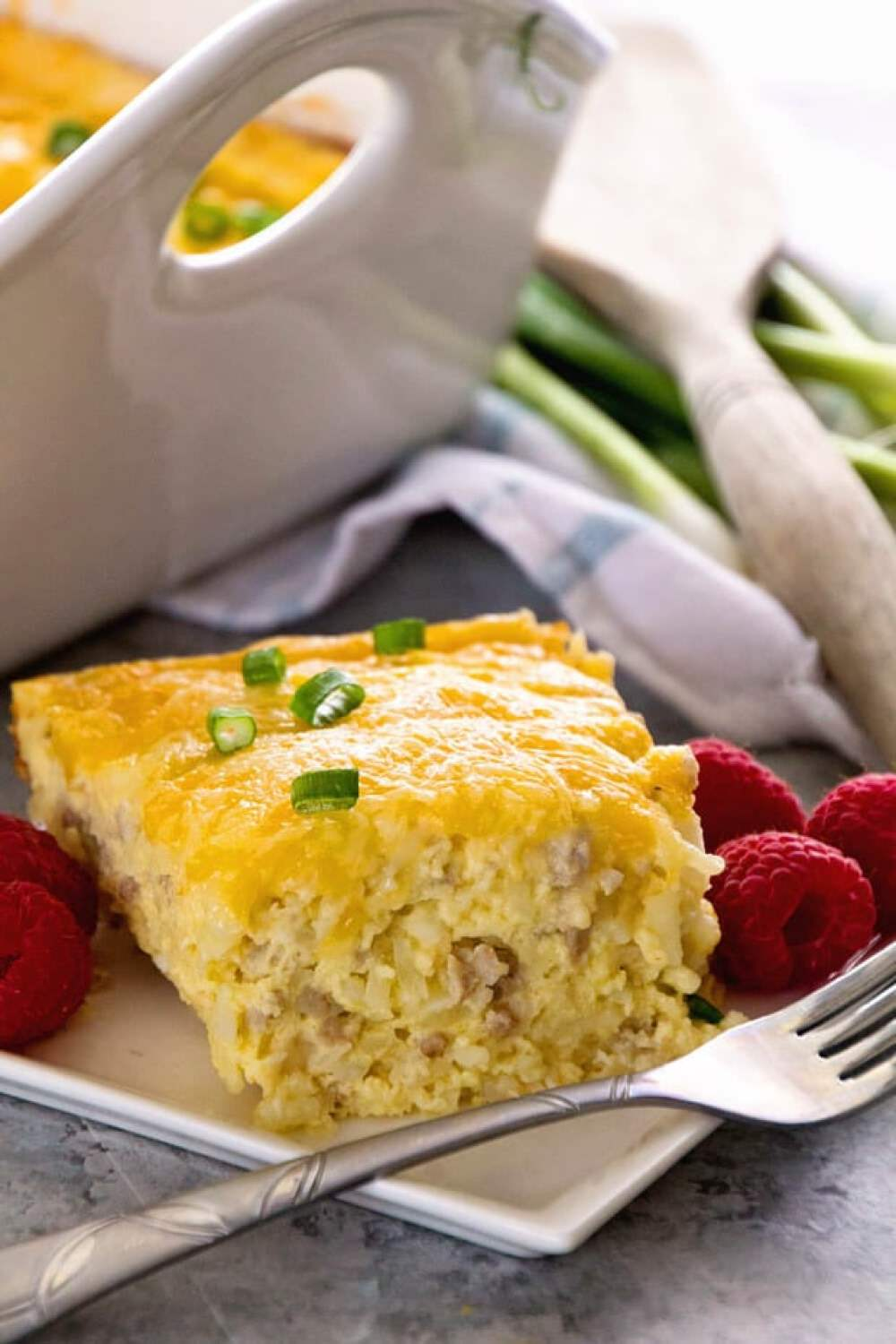 Sausage Cheese Hash Brown Breakfast Casserole