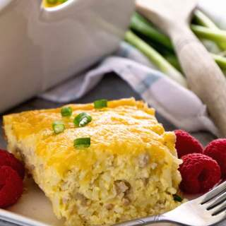 Sausage And Cheese Hash Brown Breakfast Casserole
