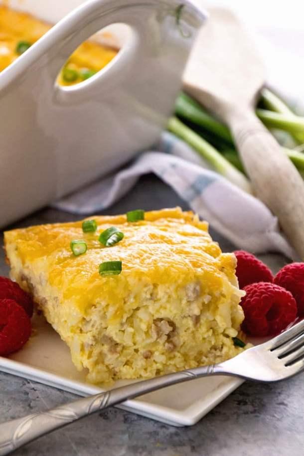 Sausage Cheese Hash Brown Breakfast Casserole