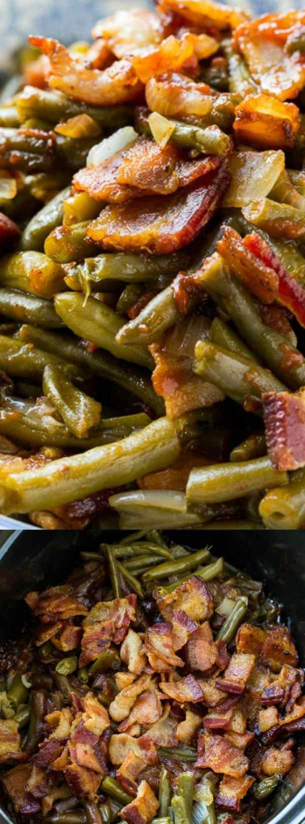 Slow Cooker Barbequed Green Beans