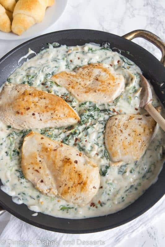 Spinach and Artichoke Chicken Skillet Recipe