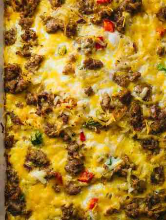 Easy Breakfast Casserole With Sausage And Hash Browns