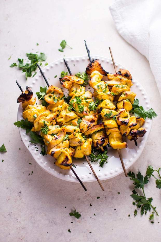 grilled honey mustard chicken skewers recipe