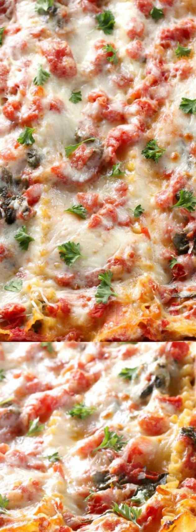 Cheesy Spinach Lasagna Longpin