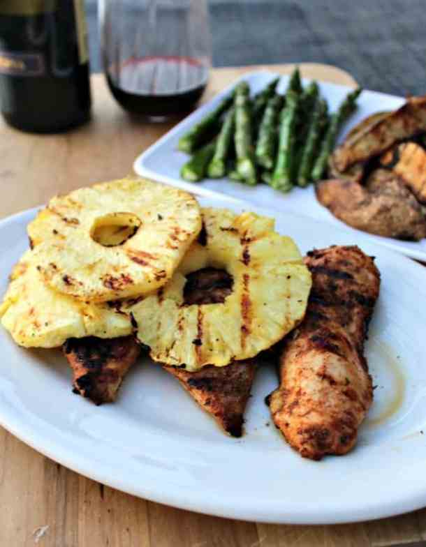 Grilled Jerk Chicken with Pineapple recipe