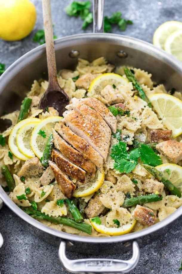 Lemon Garlic Chicken AsparagusPasta Recipe