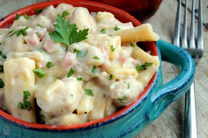 One Pot Chicken Cordon Bleu Pasta Recipe