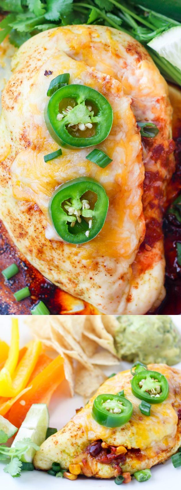 Salsa Stuffed Sheet Pan Chicken longpin