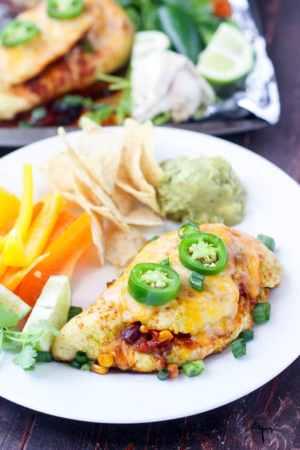Salsa Stuffed Sheet Pan Chicken recipe