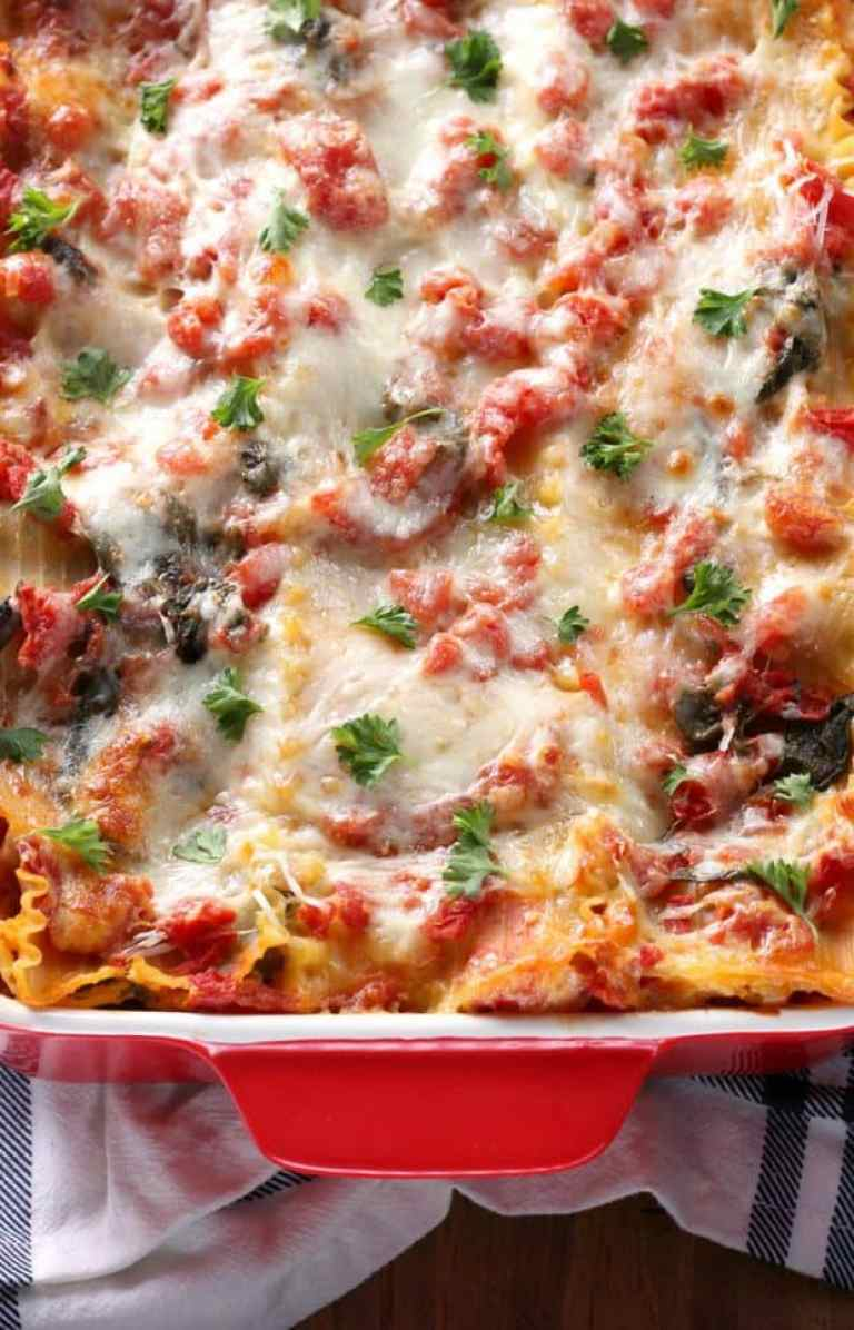 cheesy spinach lasagna recipe