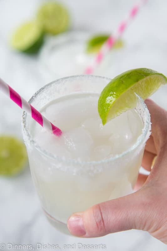classic lime margarita on the rocks recipe