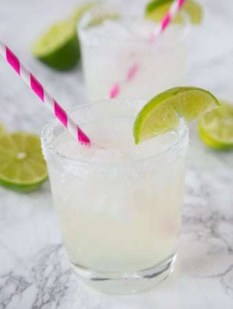 Classic Lime Margarita On The Rocks