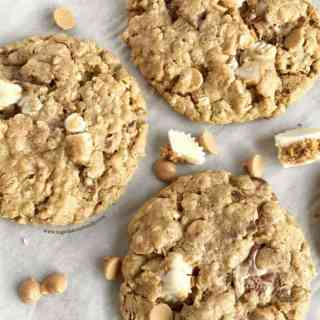 Loaded Reese's Oatmeal Peanut Butter Cookies