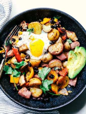 Southwest Baked Ham And Eggs Potato Hash