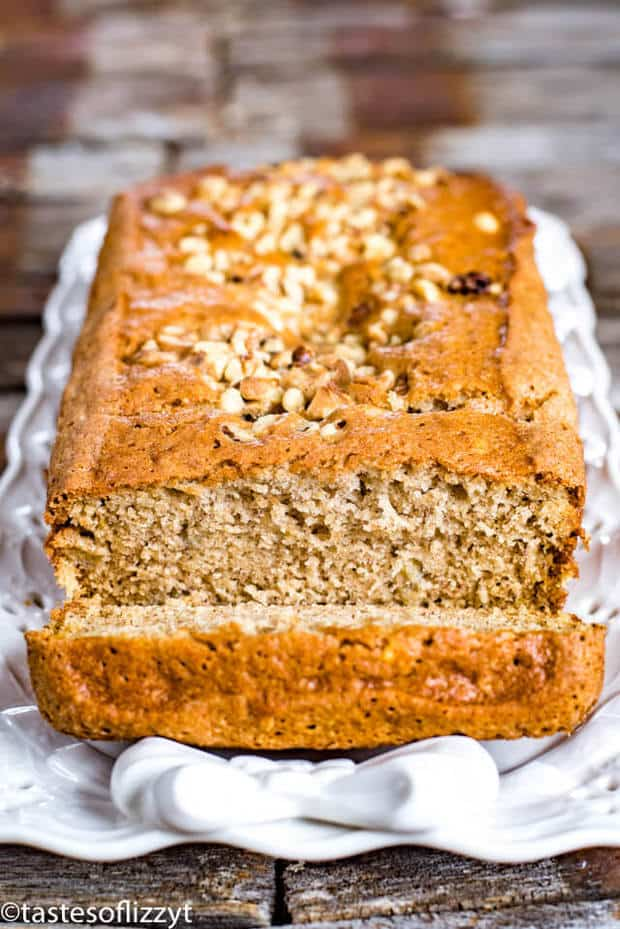 Use up ripe bananas in this easy banana bread recipe. This recipe makes two loaves so it is great for gift giving. Use coconut oil and coconut sugar if you'd like!