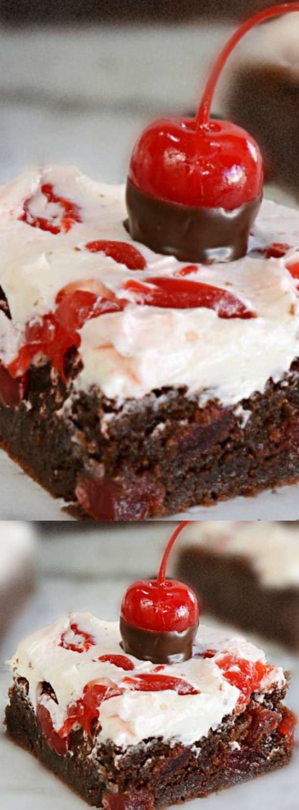 Cherry Brownie Bars