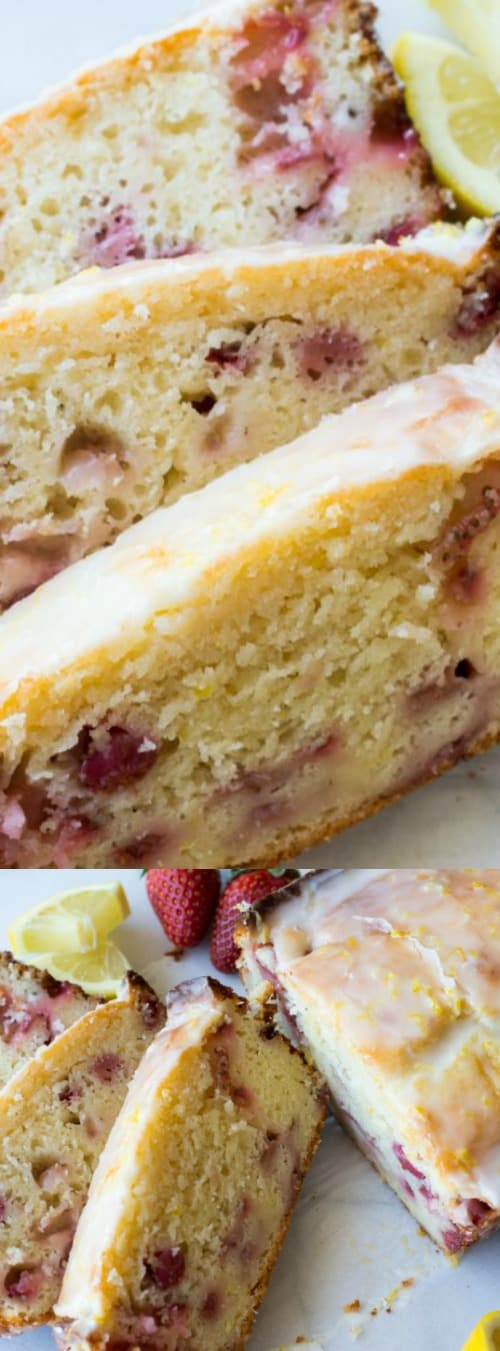 Glazed Strawberry Lemon Loaf Longpin