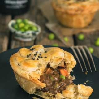 Guinness Irish Beef Stew Mini Pot Pies