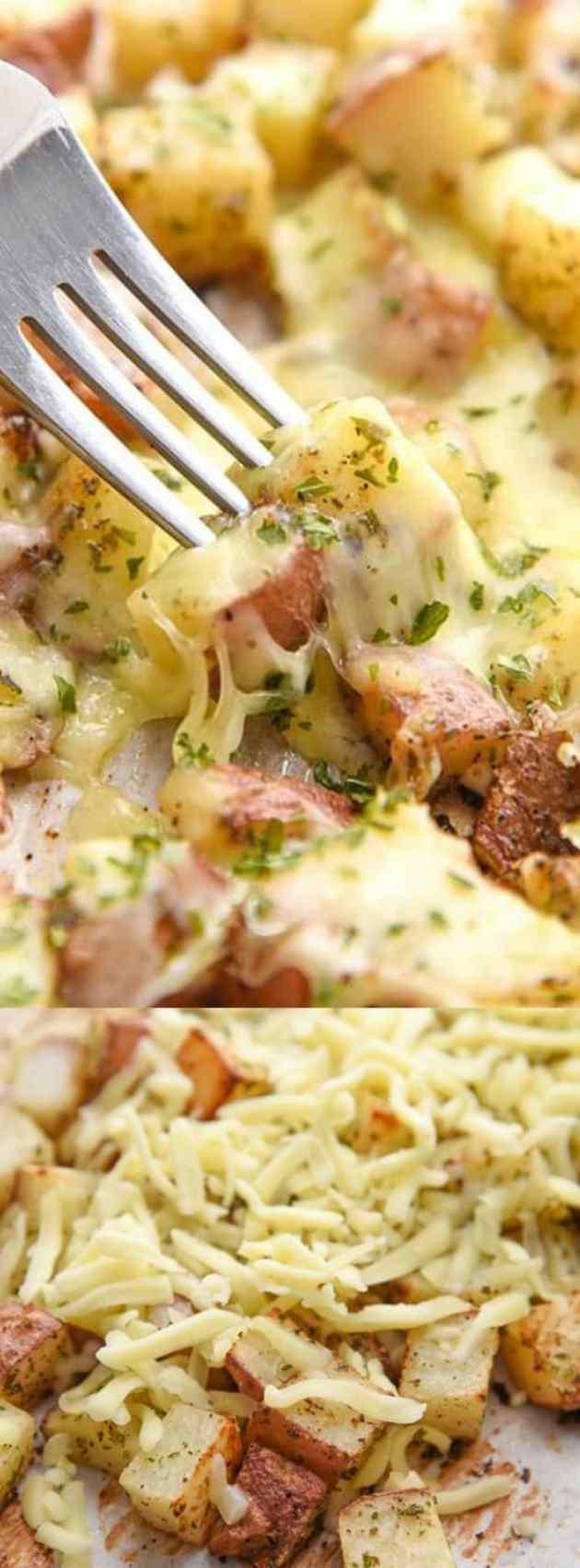 Oven baked cheesy potatoes longpin