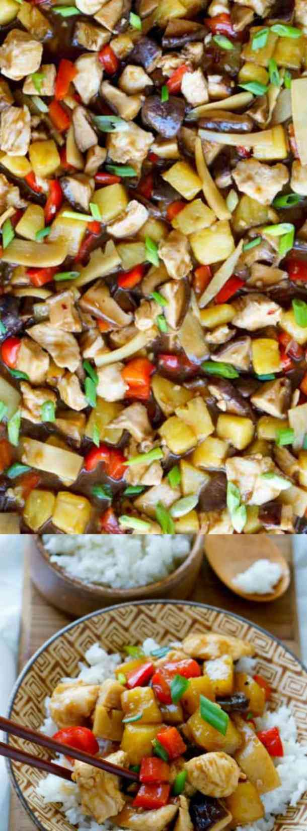 Sheet Pan Stir-Fried Chicken Teriyaki with Pineapple