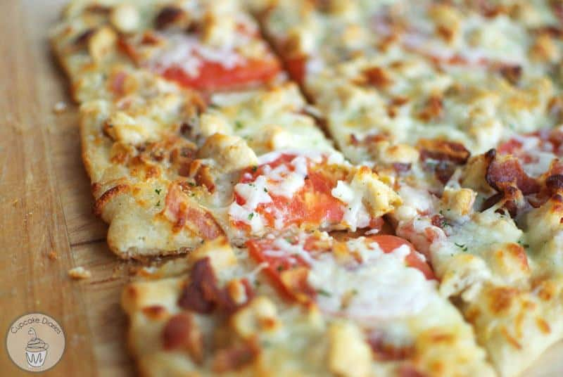 Chicken Bacon Ranch Pizza--Part of The Best Chicken Bacon Ranch Recipes