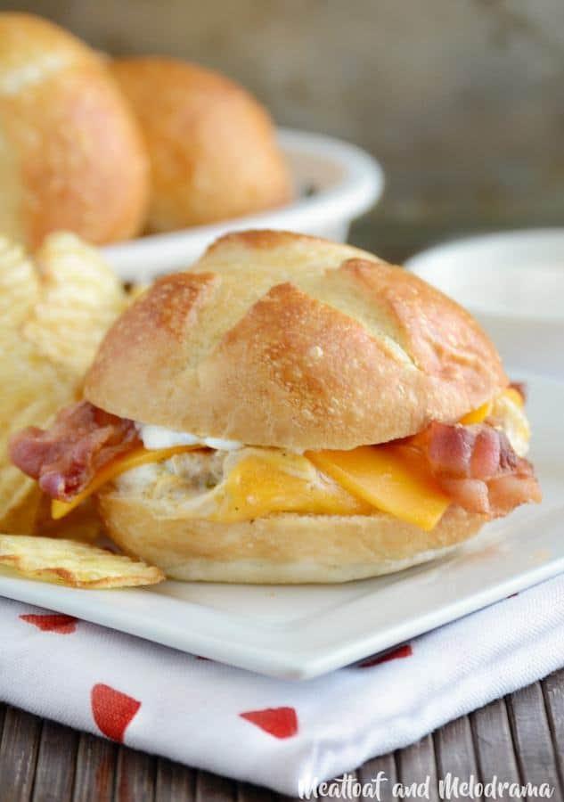 Crock-Pot Chicken Bacon Ranch Sliders--Part of The Best Chicken Bacon Ranch Recipes
