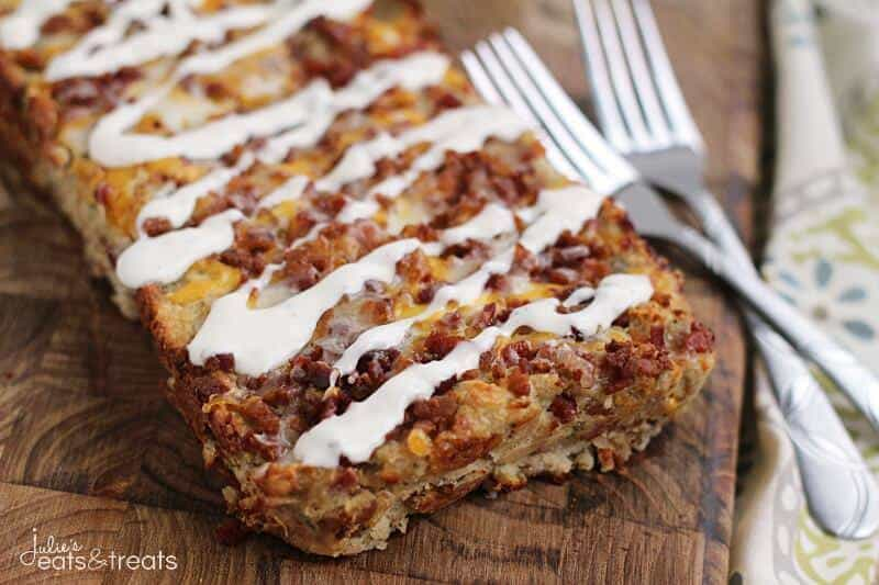 Chicken Bacon Ranch Meatloaf--Part of The Best Chicken Bacon Ranch Recipes