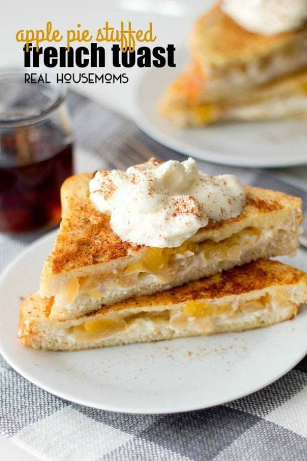 Apple Pie Stuffed French Toast--Part of The Best French Toast Recipes