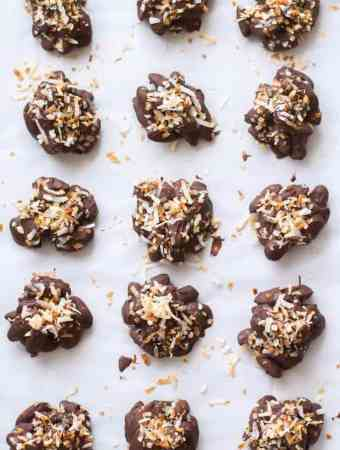 Coconut Dark Chocolate Almond Clusters